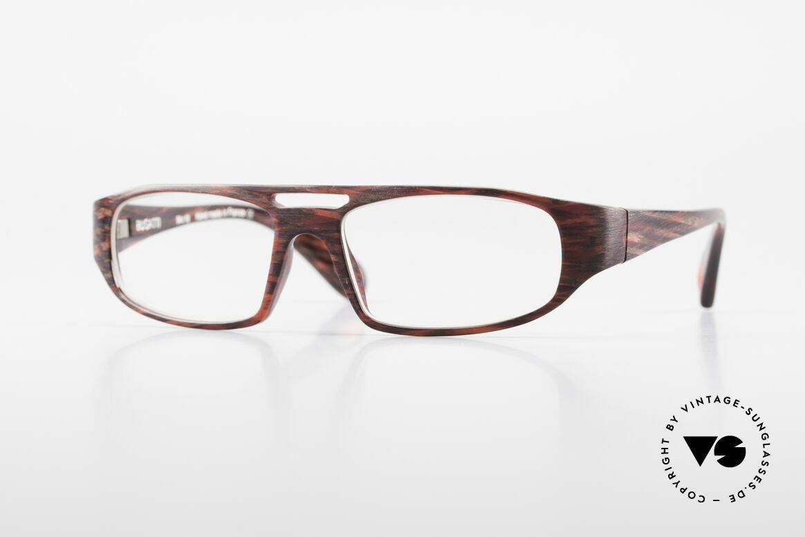 Bugatti 222 Markantes Brillengestell Men, markante vintage Brillenfassung von BUGATTI, Passend für Herren