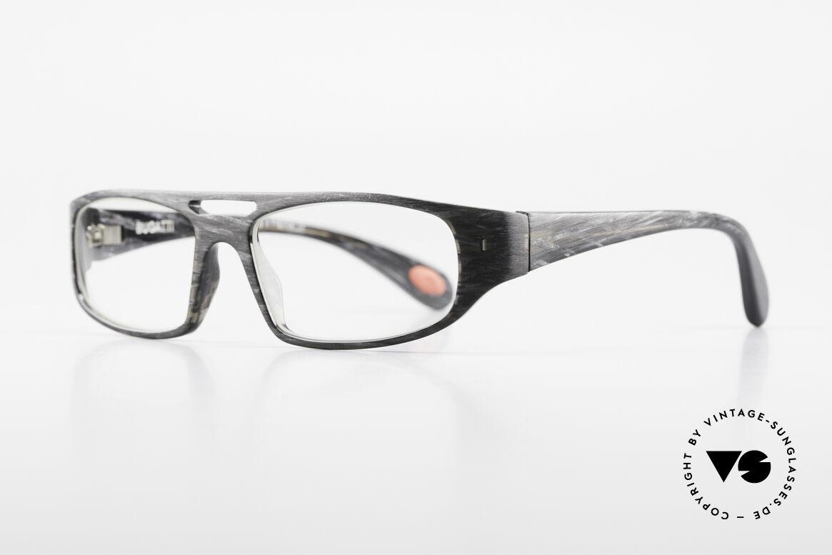 Bugatti 222 Markante Brillenfassung Men, optimaler Tragekomfort dank Feder-Scharnieren, Passend für Herren