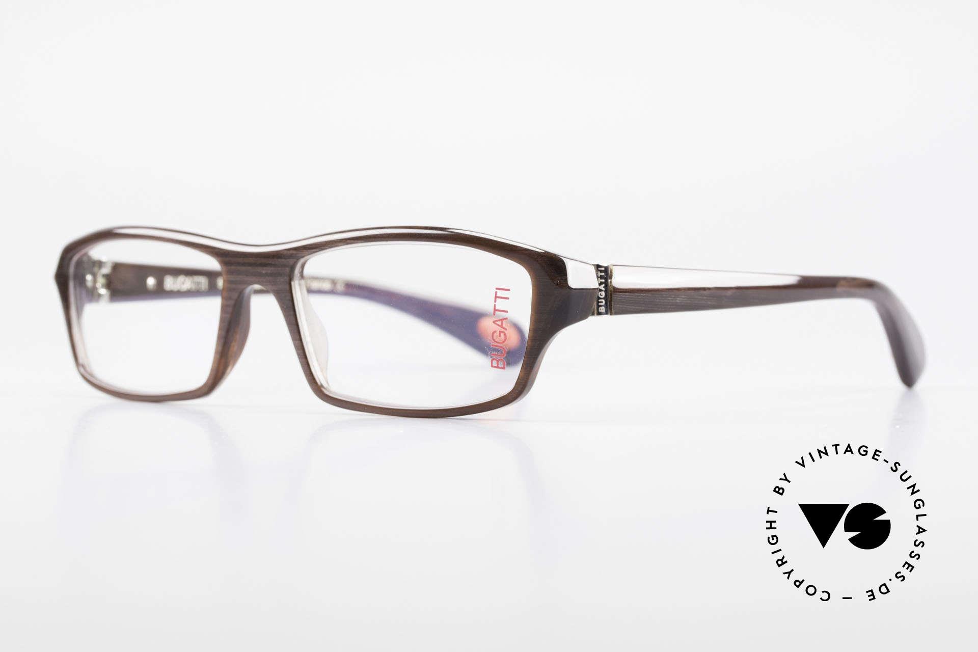 Bugatti 471 Elegante Designerbrille Herren, optimaler Tragekomfort dank Feder-Scharnieren, Passend für Herren