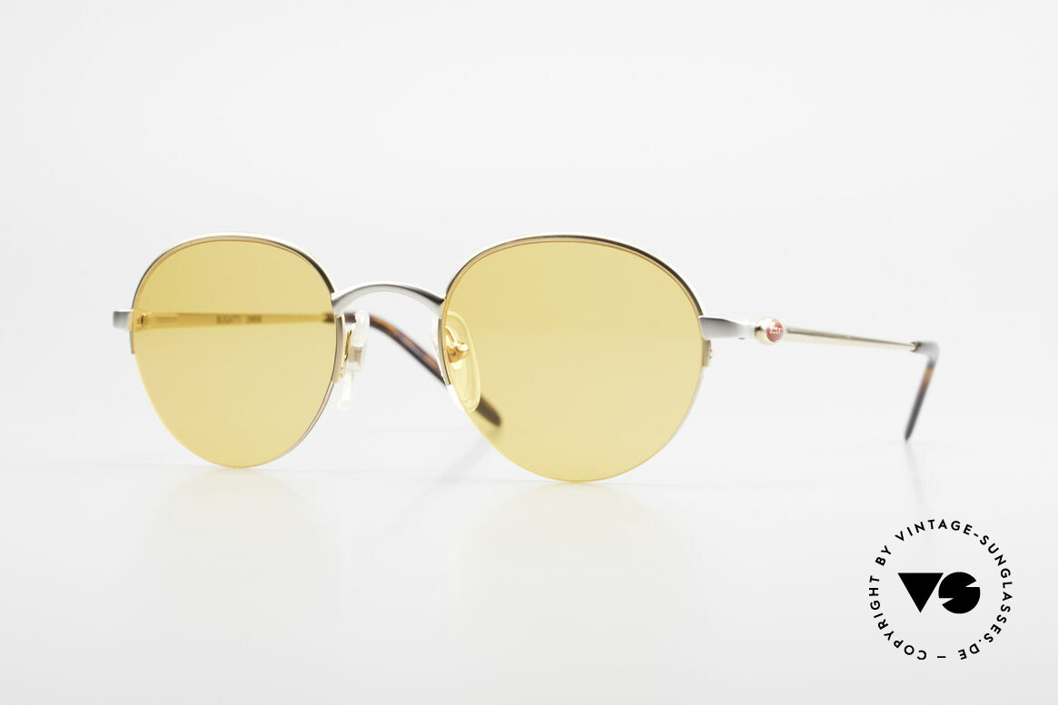 Bugatti 26658 Panto Designer Sonnenbrille, ultra seltene Panto-Sonnenbrille in Gr. 49-21, Passend für Herren