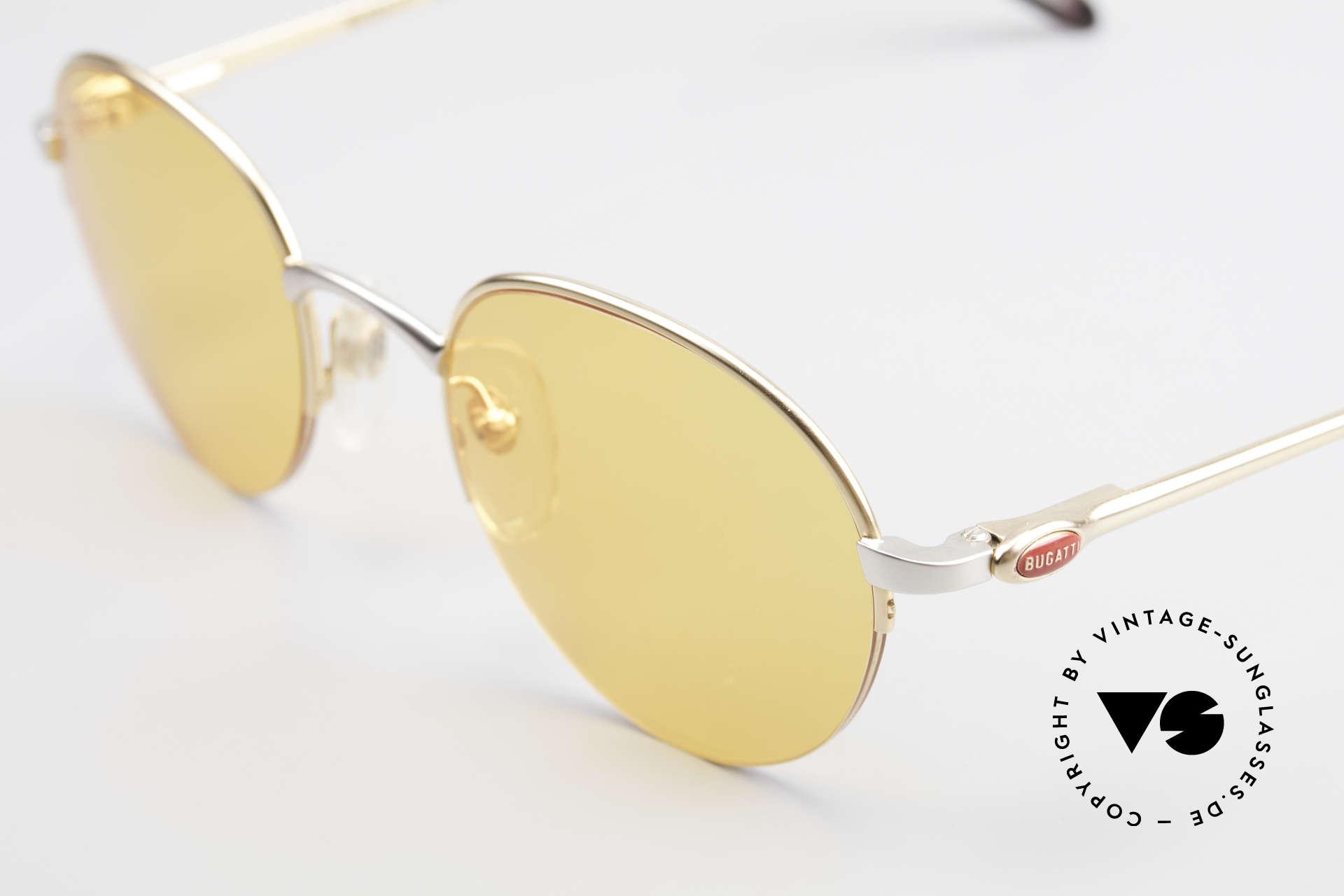 Bugatti 26658 Panto Designer Sonnenbrille, echte Top-Qualität aus Frankreich um 1996/97, Passend für Herren