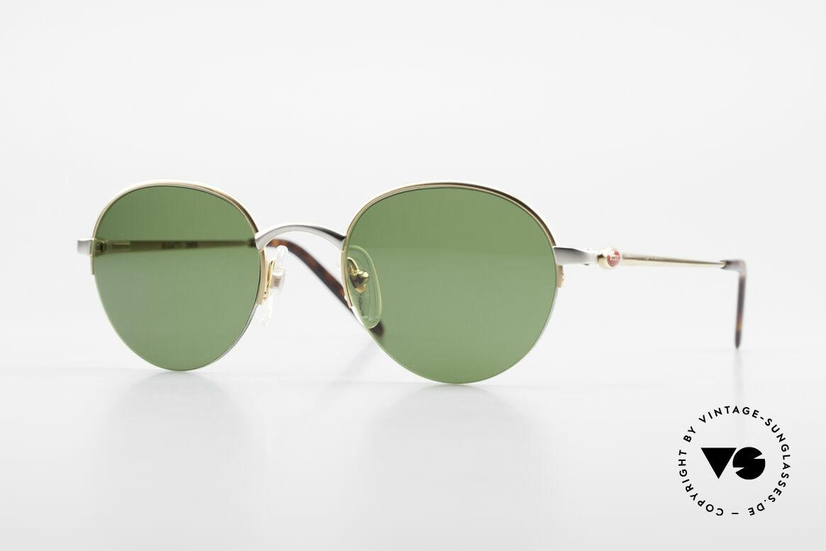 Bugatti 26658 Designer Panto Sonnenbrille, ultra seltene Panto-Sonnenbrille in Gr. 49-21, Passend für Herren