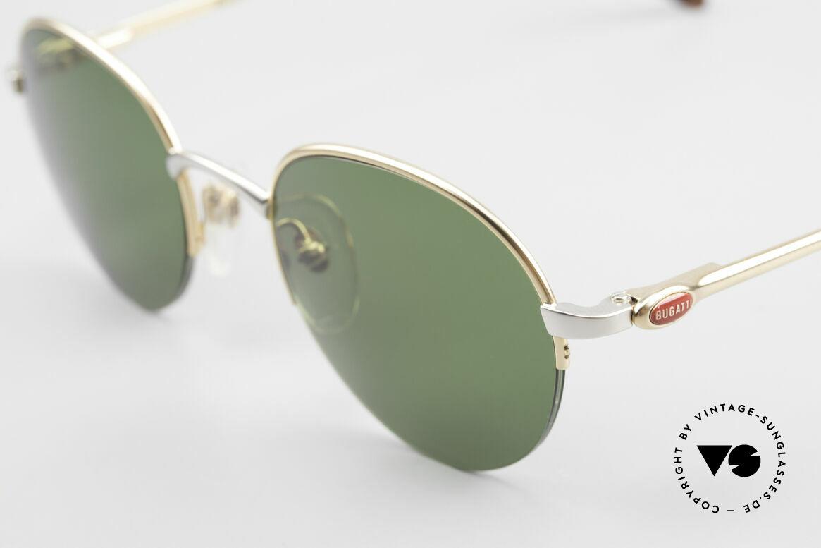 Bugatti 26658 Designer Panto Sonnenbrille, echte Top-Qualität aus Frankreich um 1996/97, Passend für Herren