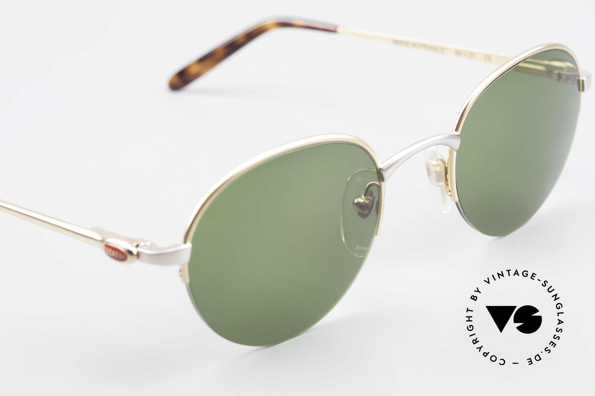 Bugatti 26658 Designer Panto Sonnenbrille, ungetragen (wie alle unsere Bugatti Fassungen), Passend für Herren