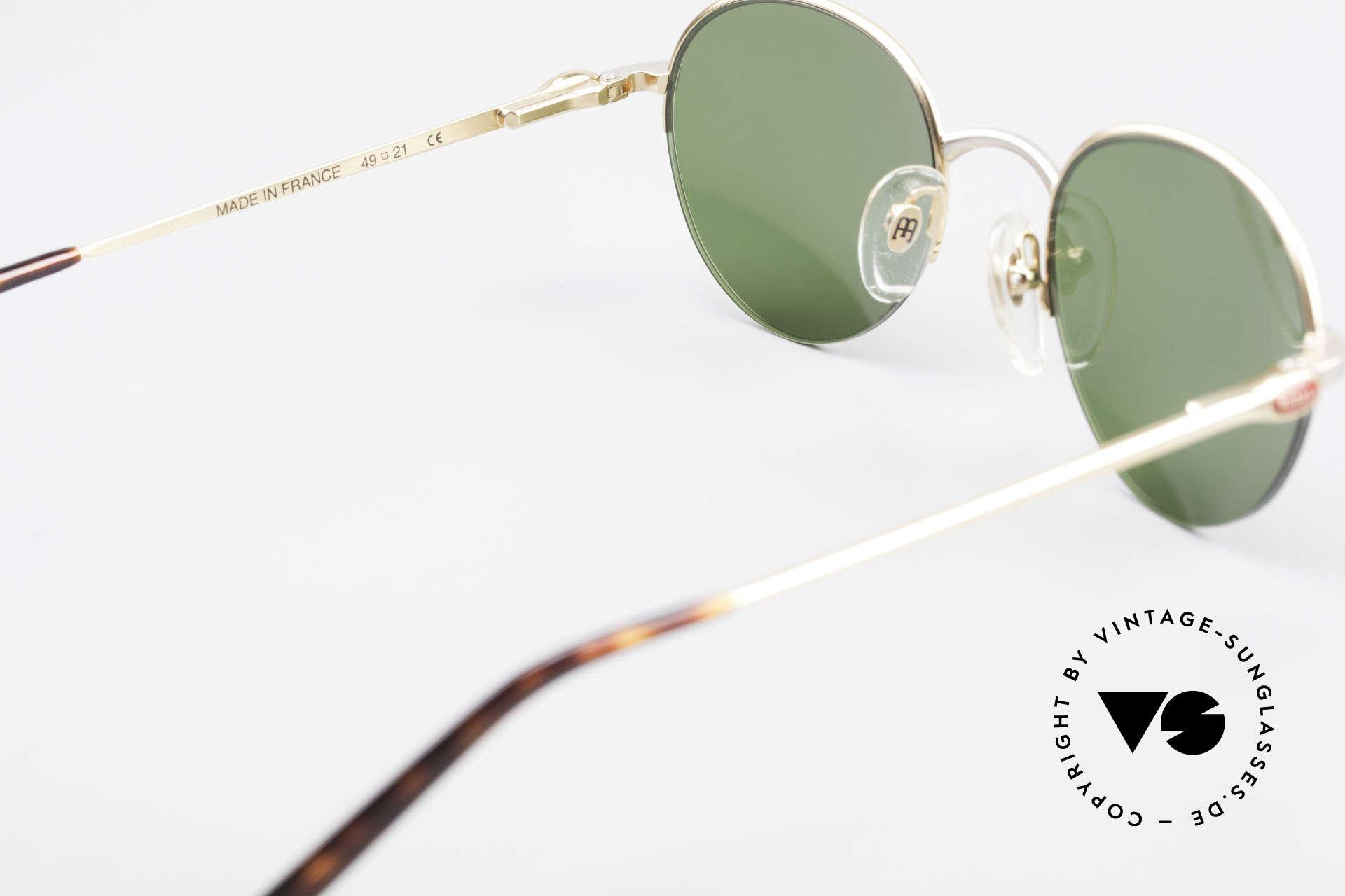 Bugatti 26658 Designer Panto Sonnenbrille, KEINE Retrobrille, sondern ein altes ORIGINAL, Passend für Herren