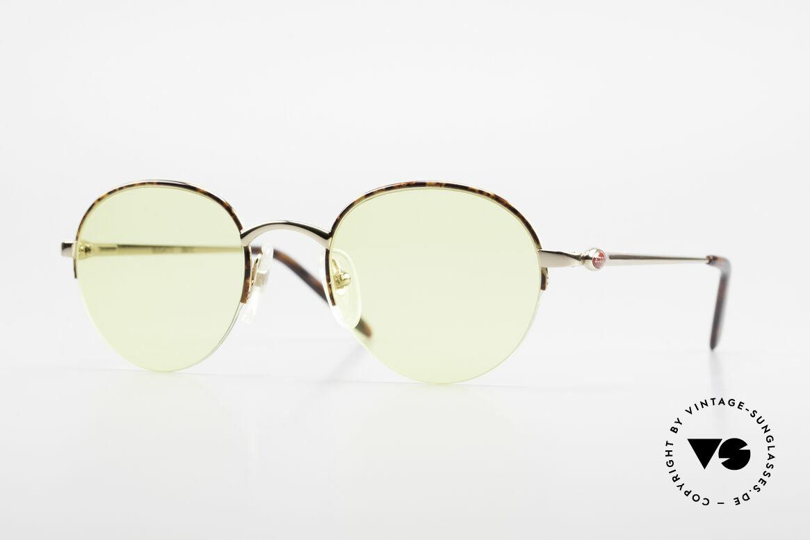 Bugatti 26612 Rare 90er Bugatti Panto Brille, seltene Bugatti Panto-Sonnenbrille; Gr. 49-21, Passend für Herren