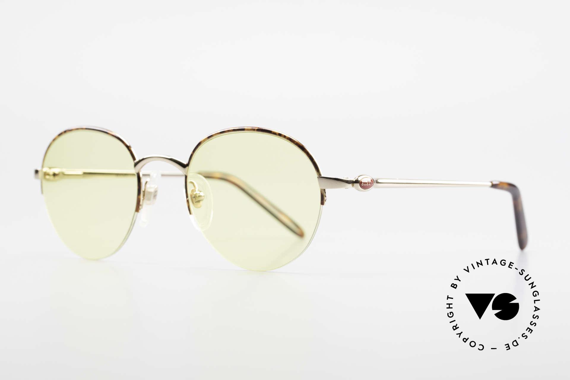 Bugatti 26612 Rare 90er Bugatti Panto Brille, vergoldet/schildpatt und flexible Federgelenke, Passend für Herren