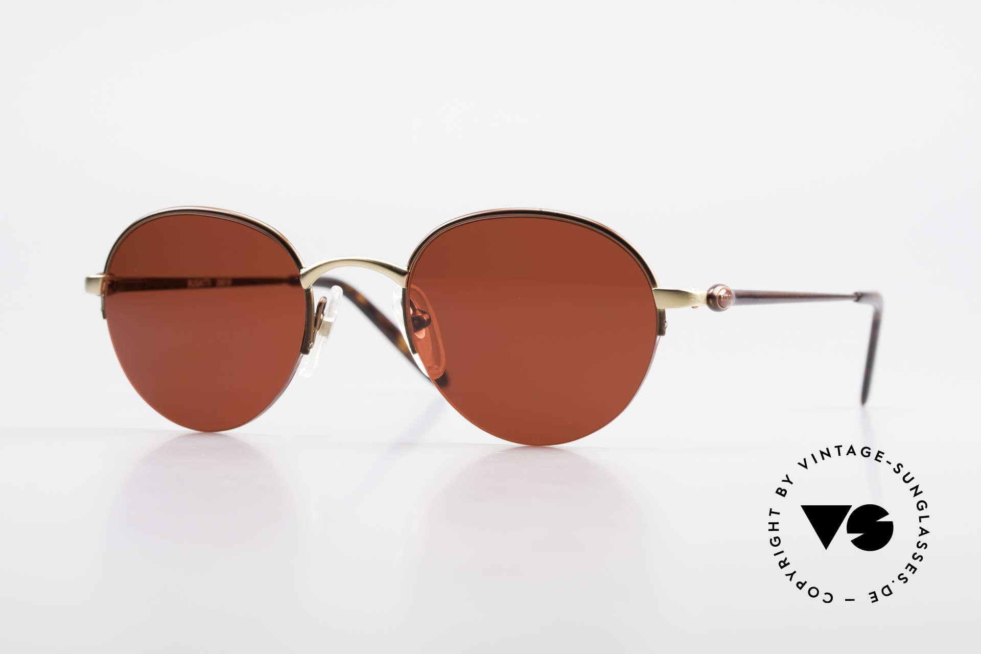 Bugatti 26619 Runde Bugatti Panto Brille, seltene Bugatti Panto-Sonnenbrille; Gr. 49-21, Passend für Herren