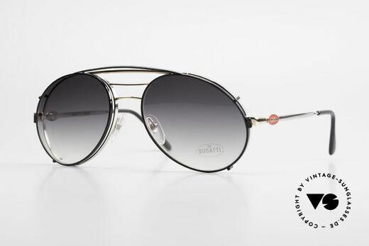 Bugatti 65536 Vintage Brille mit Sonnen Clip Details