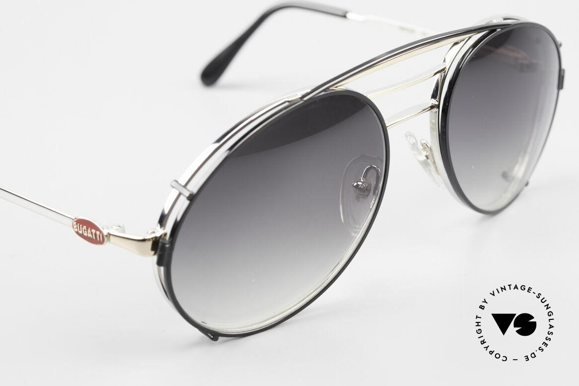 Bugatti 65536 Vintage Brille mit Sonnen Clip