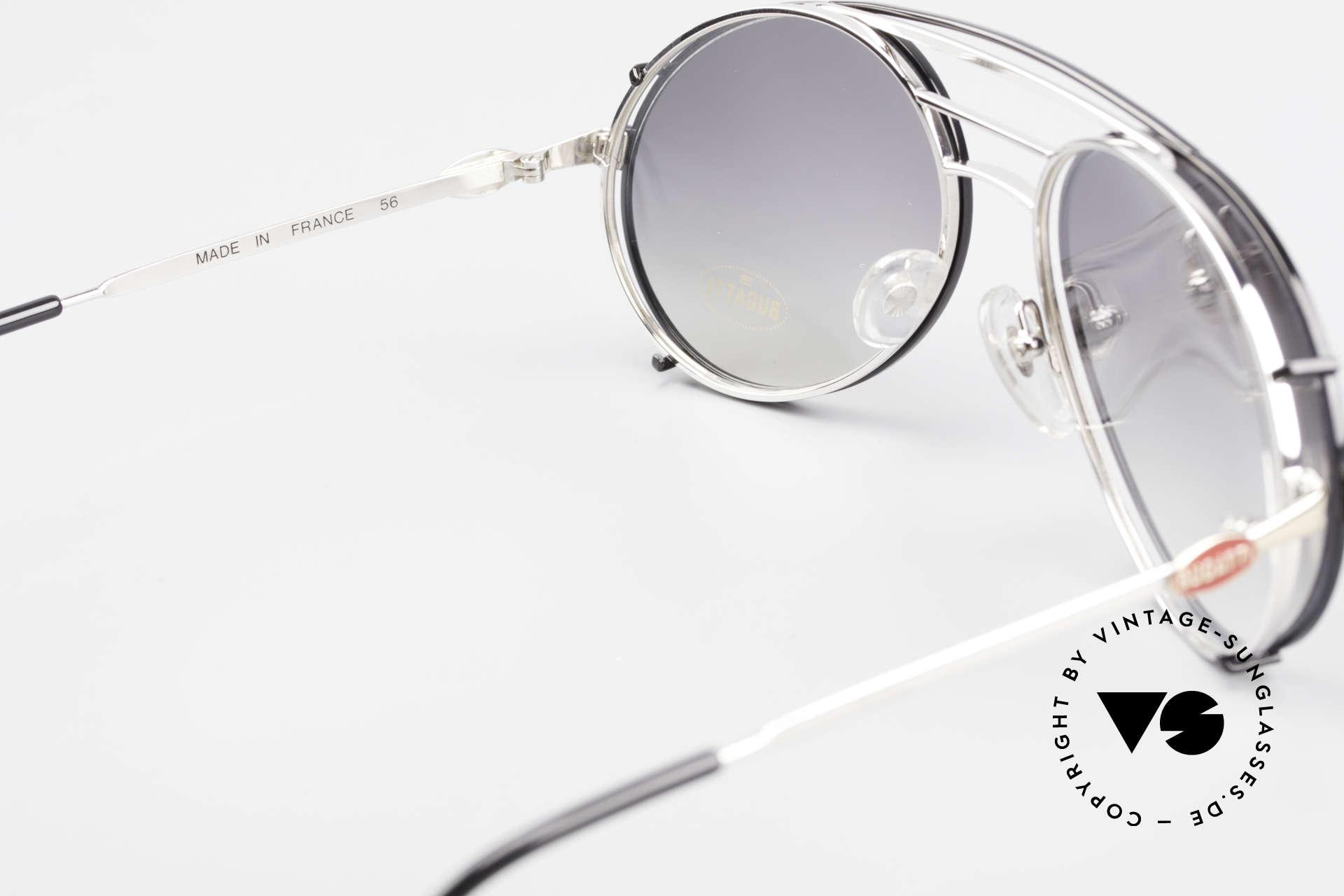 Bugatti 65536 Vintage Brille mit Sonnen Clip, KEINE Retrobrille; sondern ein altes ORIGINAL, Passend für Herren