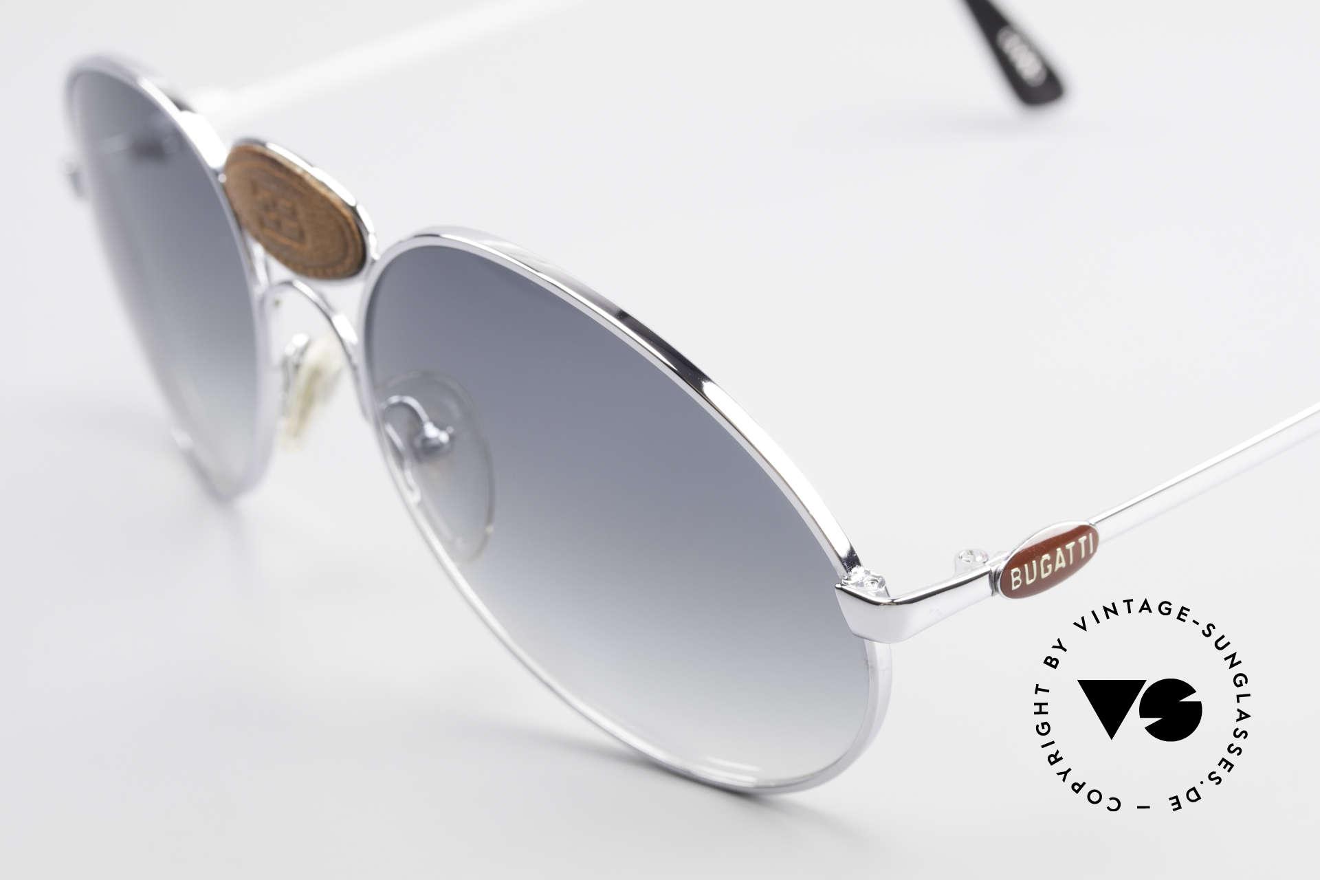 Bugatti 64745 Seltene Sammlersonnenbrille, ein ungetragenes ORIGINAL aus den späten 1970 Jahren, Passend für Herren