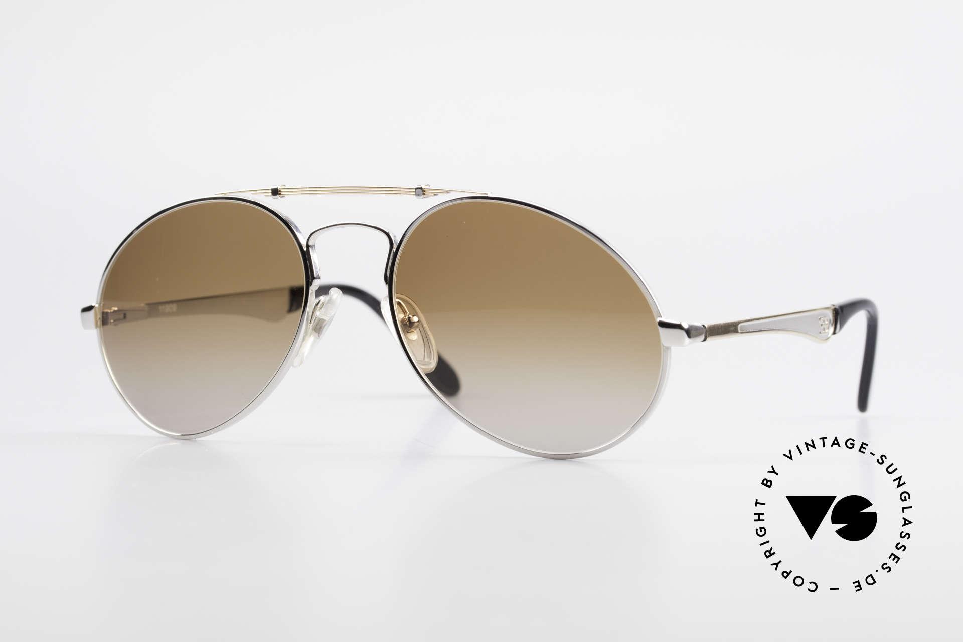 Bugatti 11909 80er Luxus Sonnenbrille Herren, 80er vintage Herren-Sonnenbrille, XL Gr. 58/20, Passend für Herren
