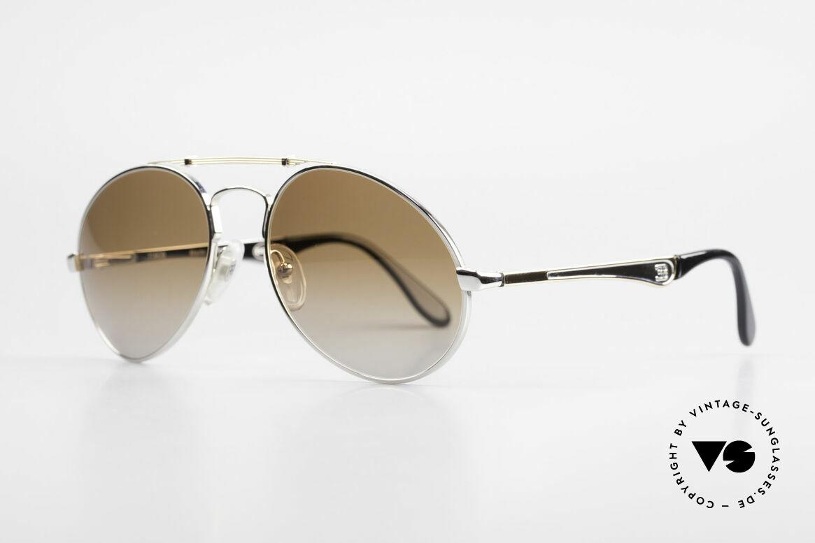 Bugatti 11909 80er Luxus Sonnenbrille Herren, keine Tropfen- od. Aviatorform, sondern Bugatti, Passend für Herren