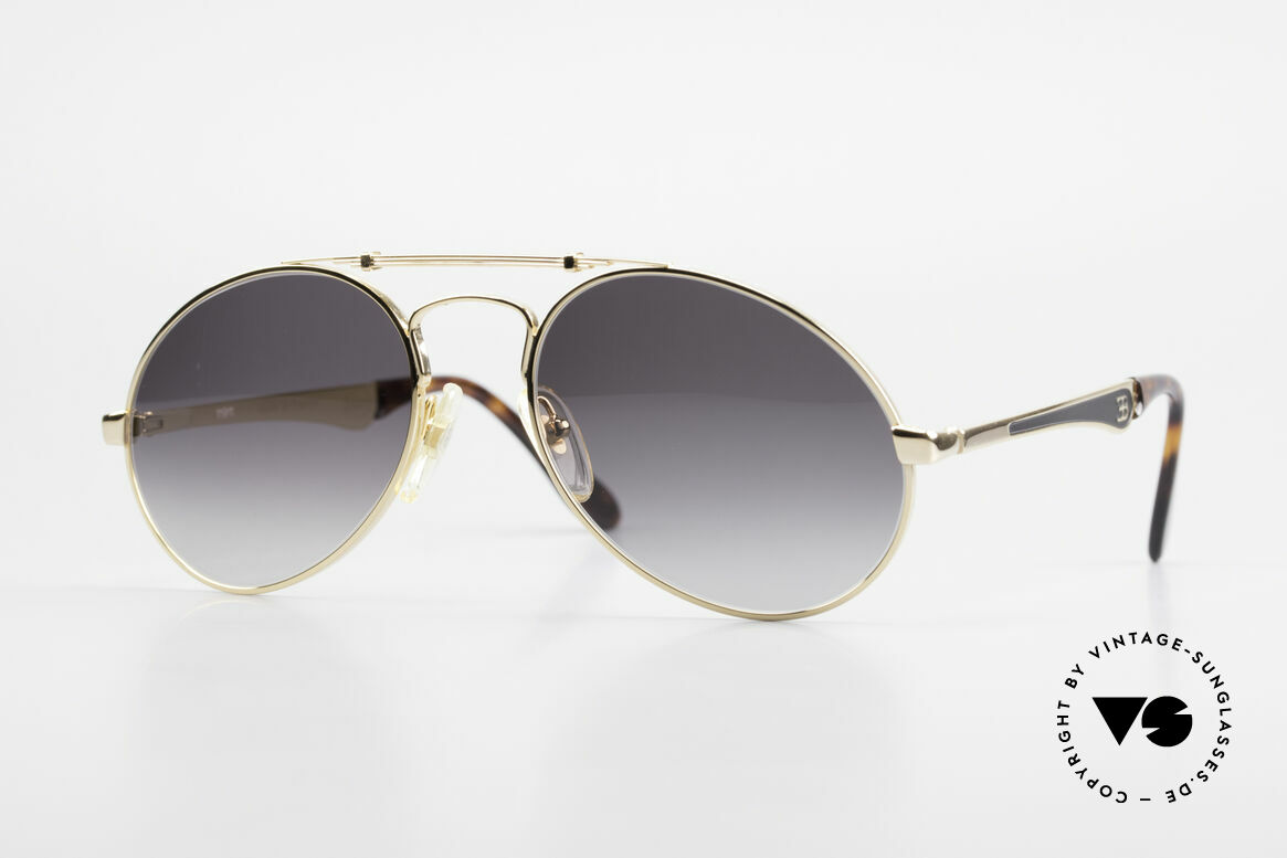 Bugatti 11911 80er Herren Luxus Sonnenbrille, 80er vintage Herren-Sonnenbrille, LARGE 56/20, Passend für Herren