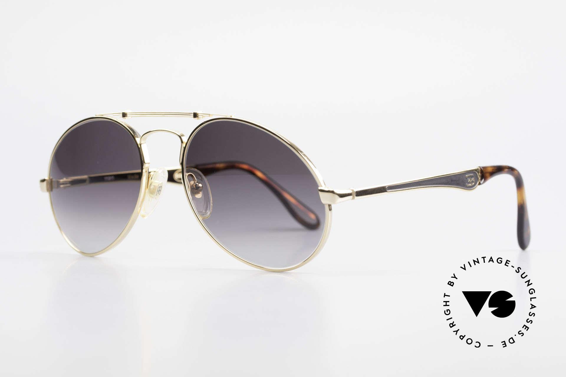 Bugatti 11911 80er Herren Luxus Sonnenbrille, keine Tropfen- od. Aviatorform, sondern Bugatti, Passend für Herren