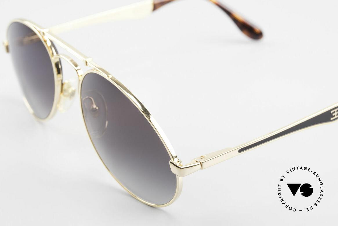 Bugatti 11911 80er Herren Luxus Sonnenbrille, ungetragenes, sehr sehr edles Modell inkl. Etui, Passend für Herren