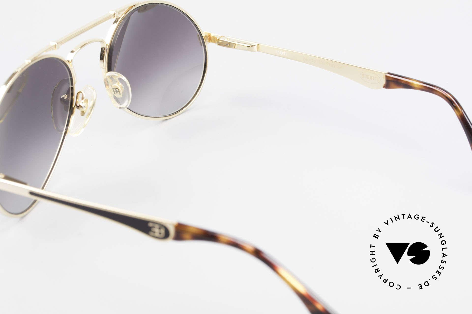 Bugatti 11911 80er Herren Luxus Sonnenbrille, Größe: large, Passend für Herren