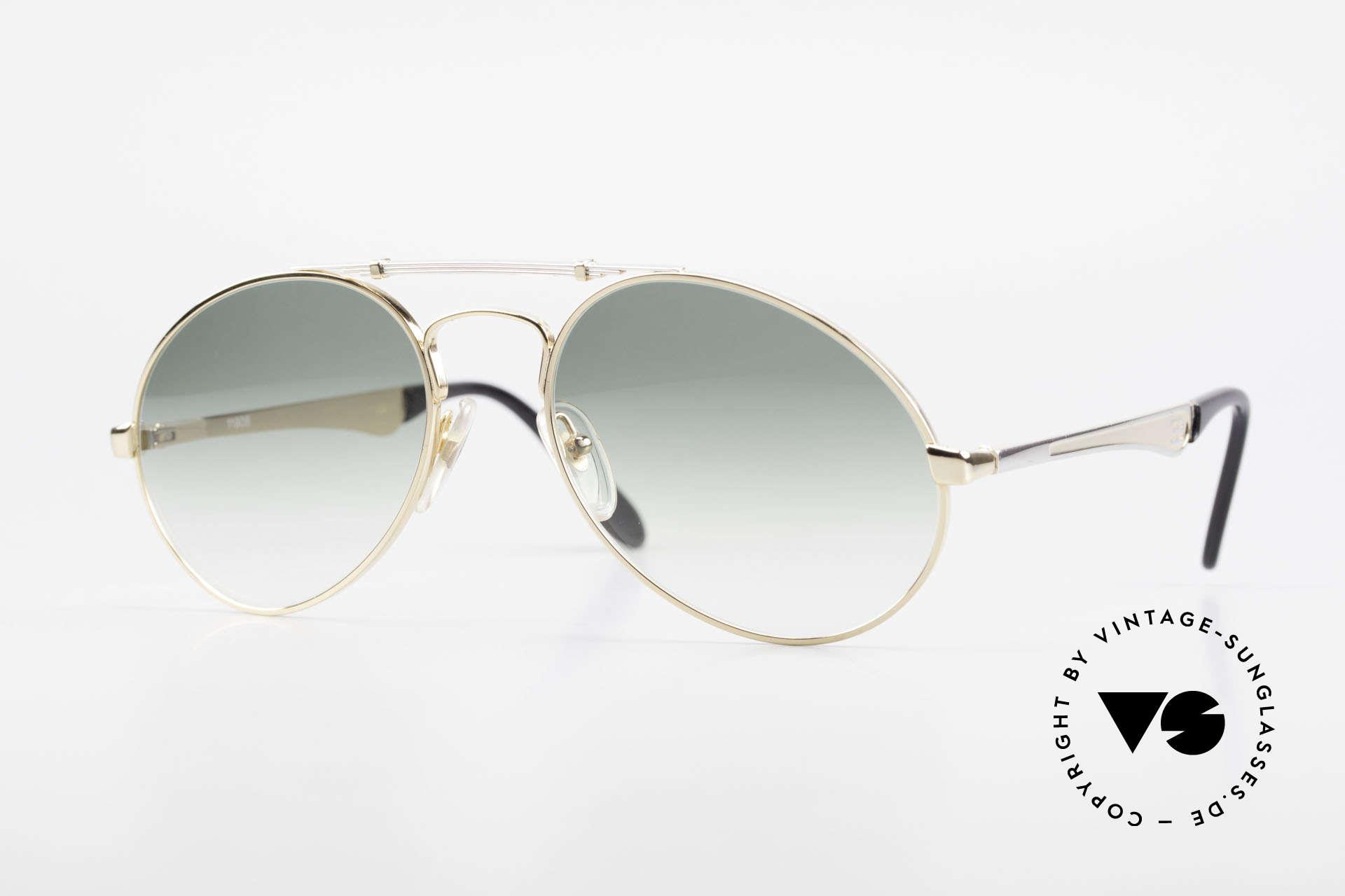 Bugatti 11908 80er Luxus Sonnenbrille XLarge, 80er vintage Herren-Sonnenbrille, XL Gr. 58/20, Passend für Herren