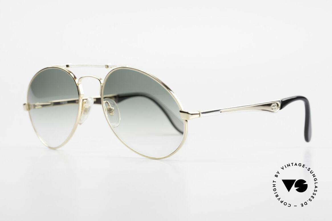 Bugatti 11908 80er Luxus Sonnenbrille XLarge, keine Tropfen- od. Aviatorform, sondern Bugatti, Passend für Herren
