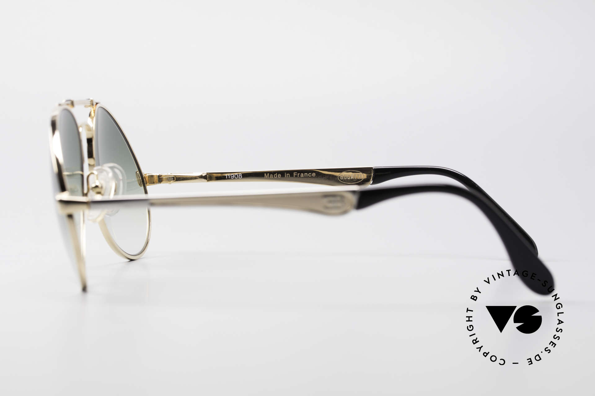 Bugatti 11908 80er Luxus Sonnenbrille XLarge, Größe: large, Passend für Herren