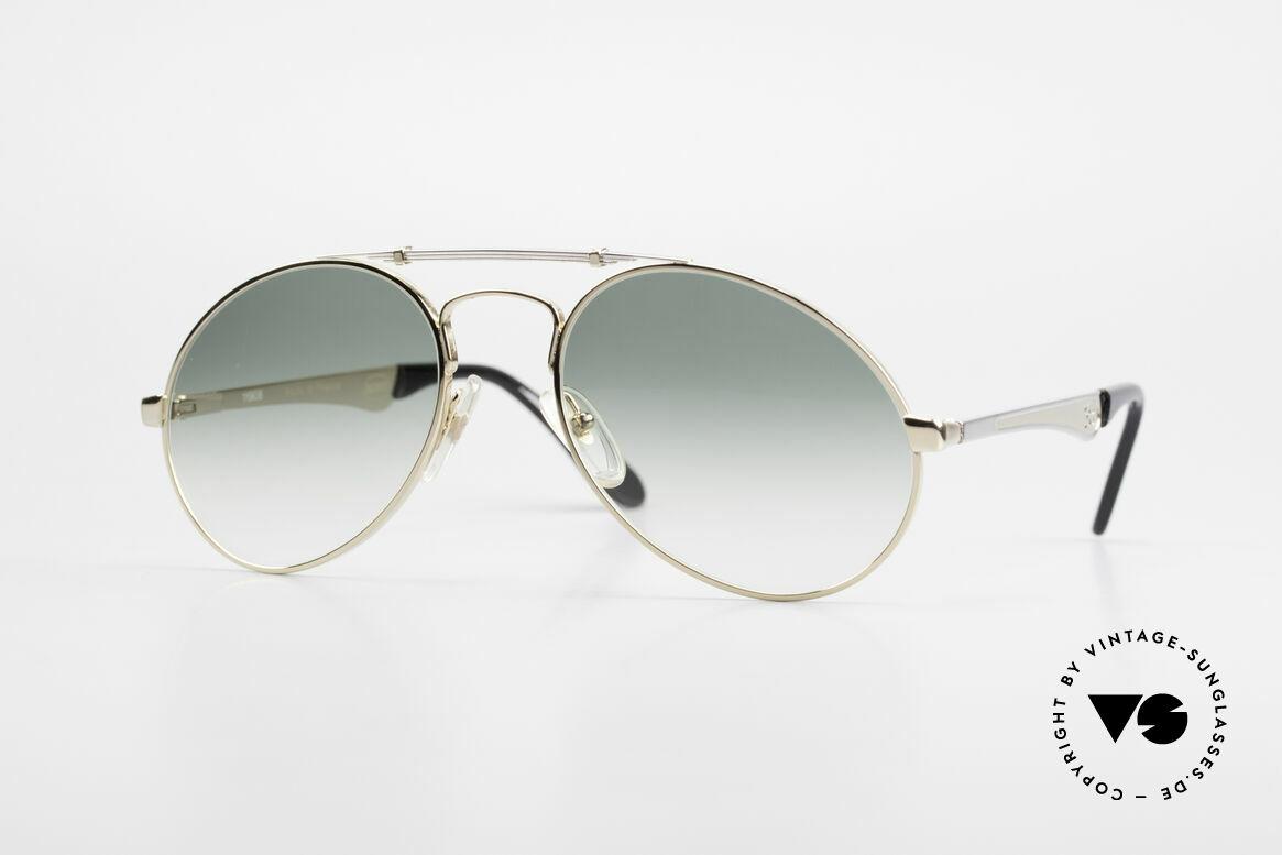 Bugatti 11908 Large 80er Luxus Sonnenbrille, 80er vintage Herren-Sonnenbrille, LARGE 56/20, Passend für Herren