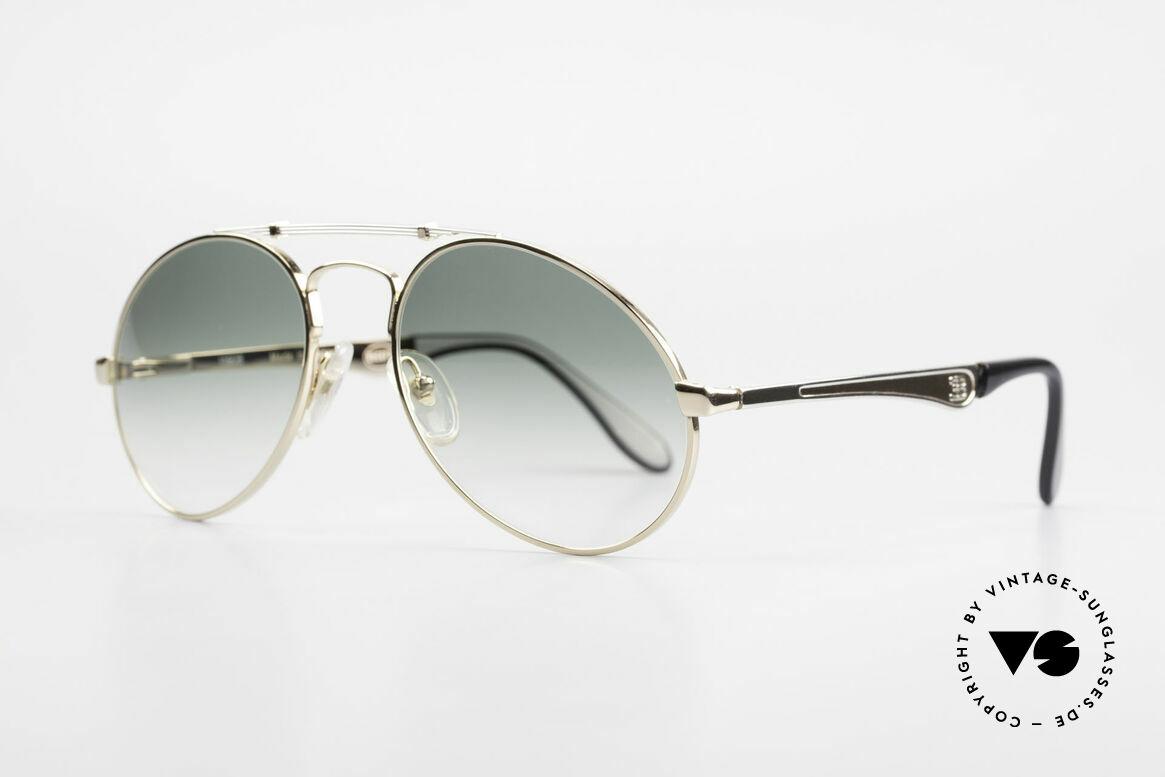 Bugatti 11908 Large 80er Luxus Sonnenbrille, keine Tropfen- od. Aviatorform, sondern Bugatti, Passend für Herren