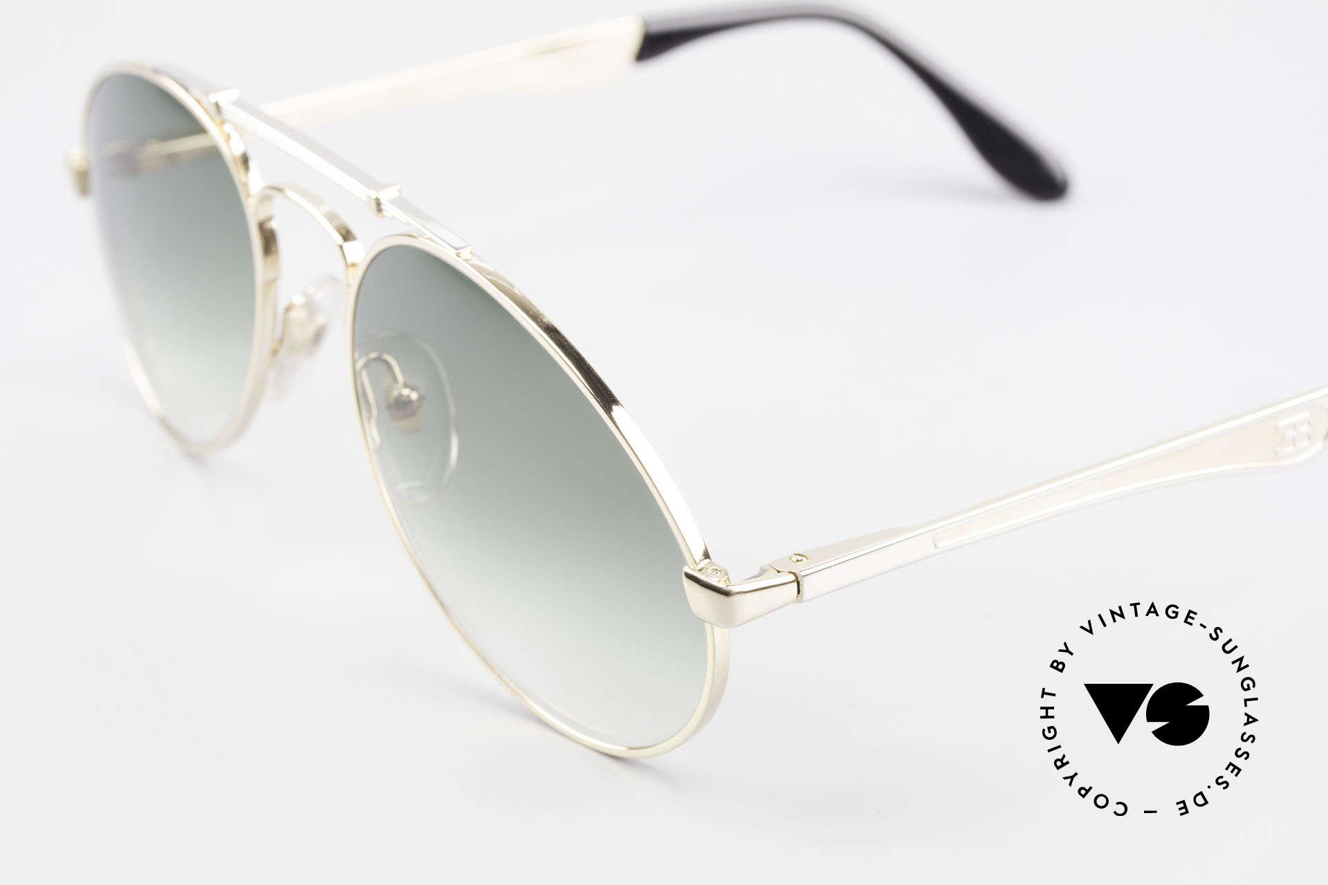 Bugatti 11908 Large 80er Luxus Sonnenbrille, ungetragenes, sehr sehr edles Modell inkl. Etui, Passend für Herren