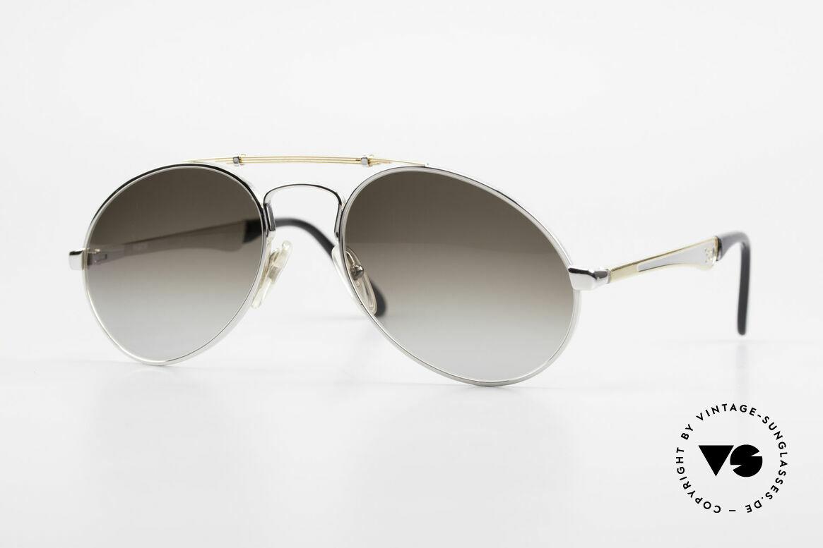 Bugatti 11909 80er Luxus Sonnenbrille Large, 80er vintage Herren-Sonnenbrille, LARGE 56/20, Passend für Herren