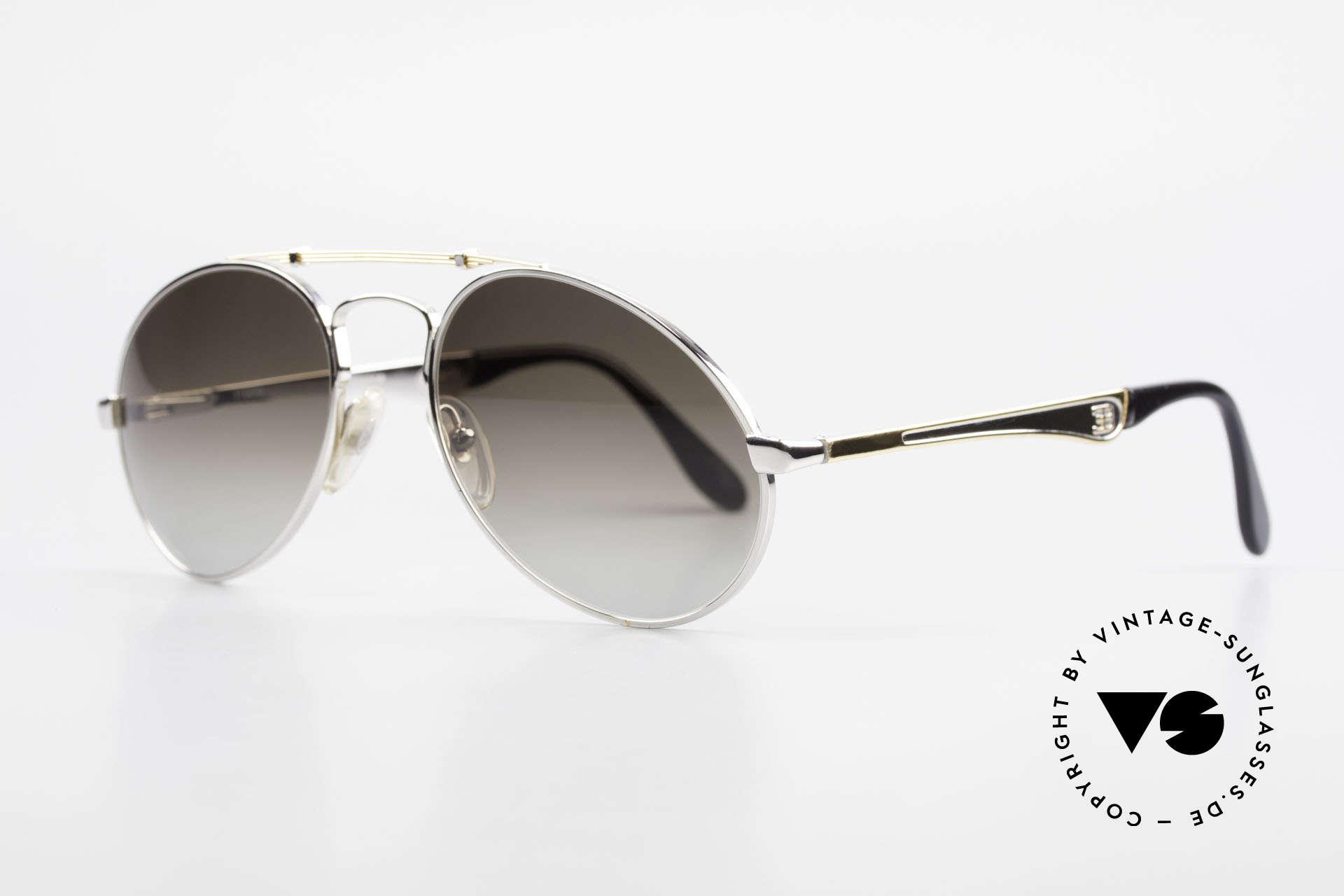 Bugatti 11909 80er Luxus Sonnenbrille Large, keine Tropfen- od. Aviatorform, sondern Bugatti, Passend für Herren