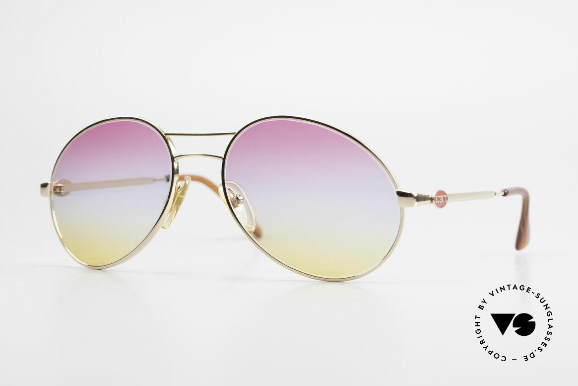Bugatti 64335 Außergewöhnliche 80er Brille, vintage 80er Bugatti Herren-Sonnenbrille, Passend für Herren