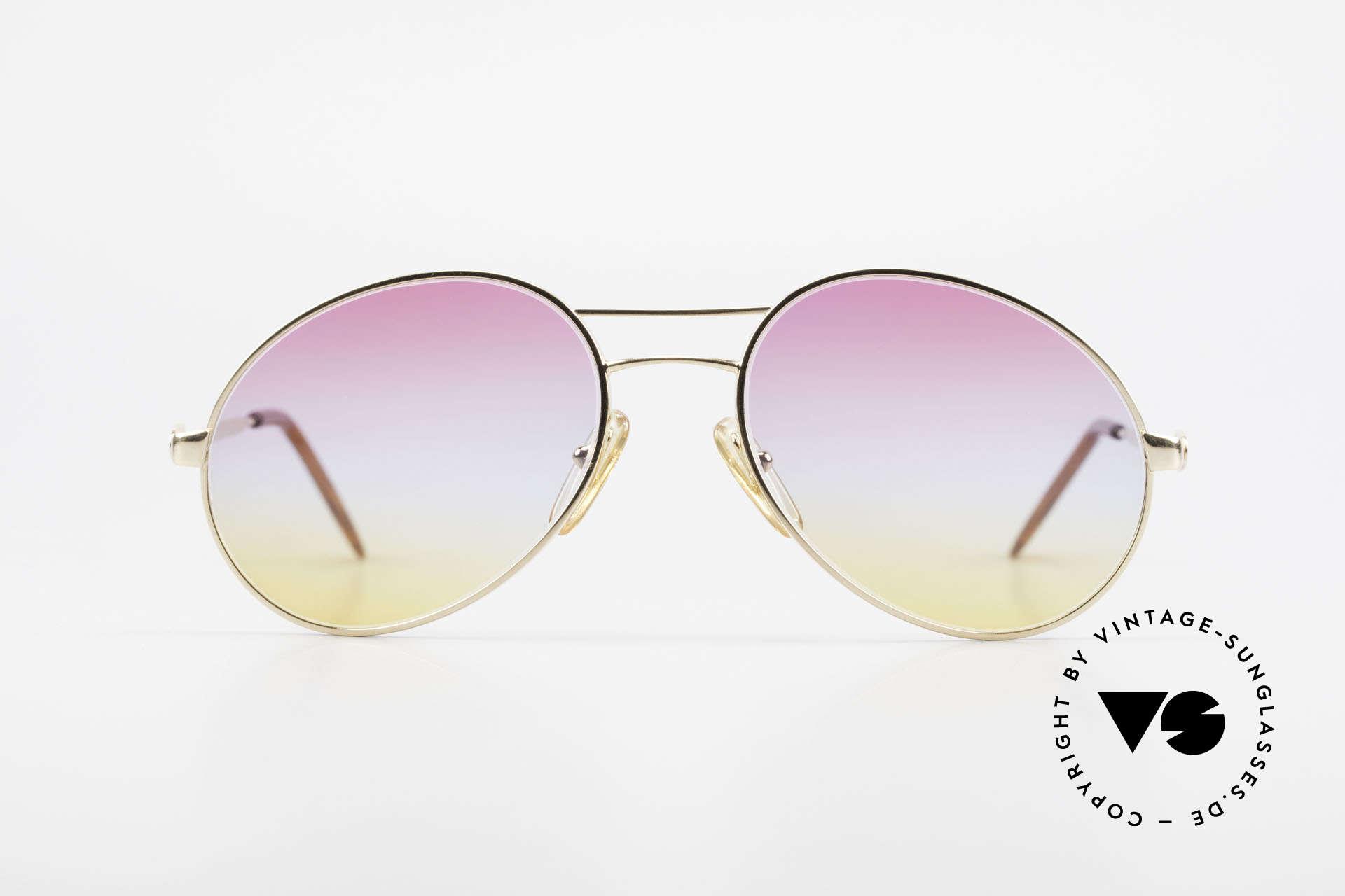 Bugatti 64335 Außergewöhnliche 80er Brille, außergewöhnliche Rahmen-Form (markant), Passend für Herren
