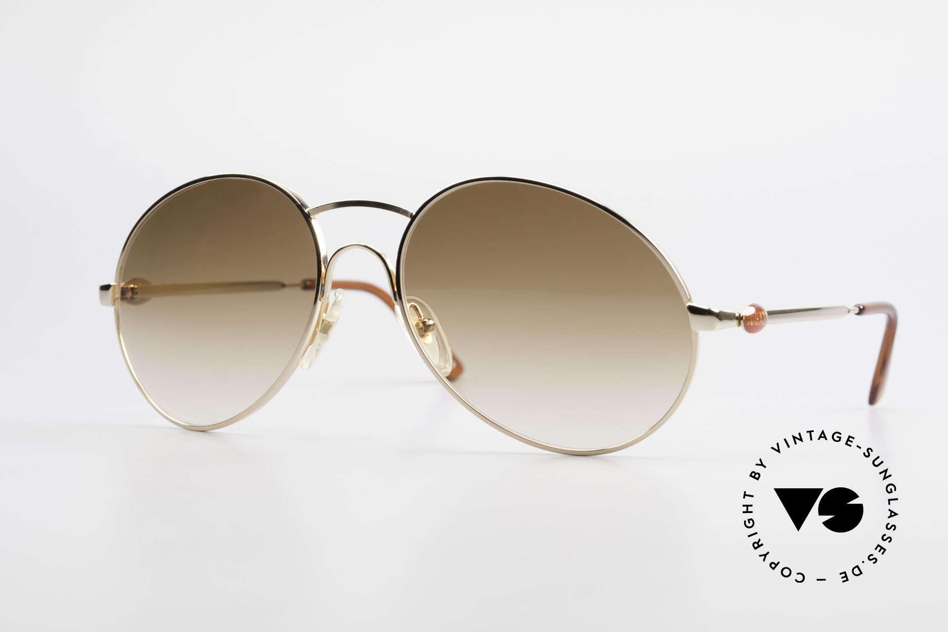 Bugatti 64947 Original 80er XL Sonnenbrille, klassische 80er Bugatti vintage HerrenSonnenbrille, Passend für Herren