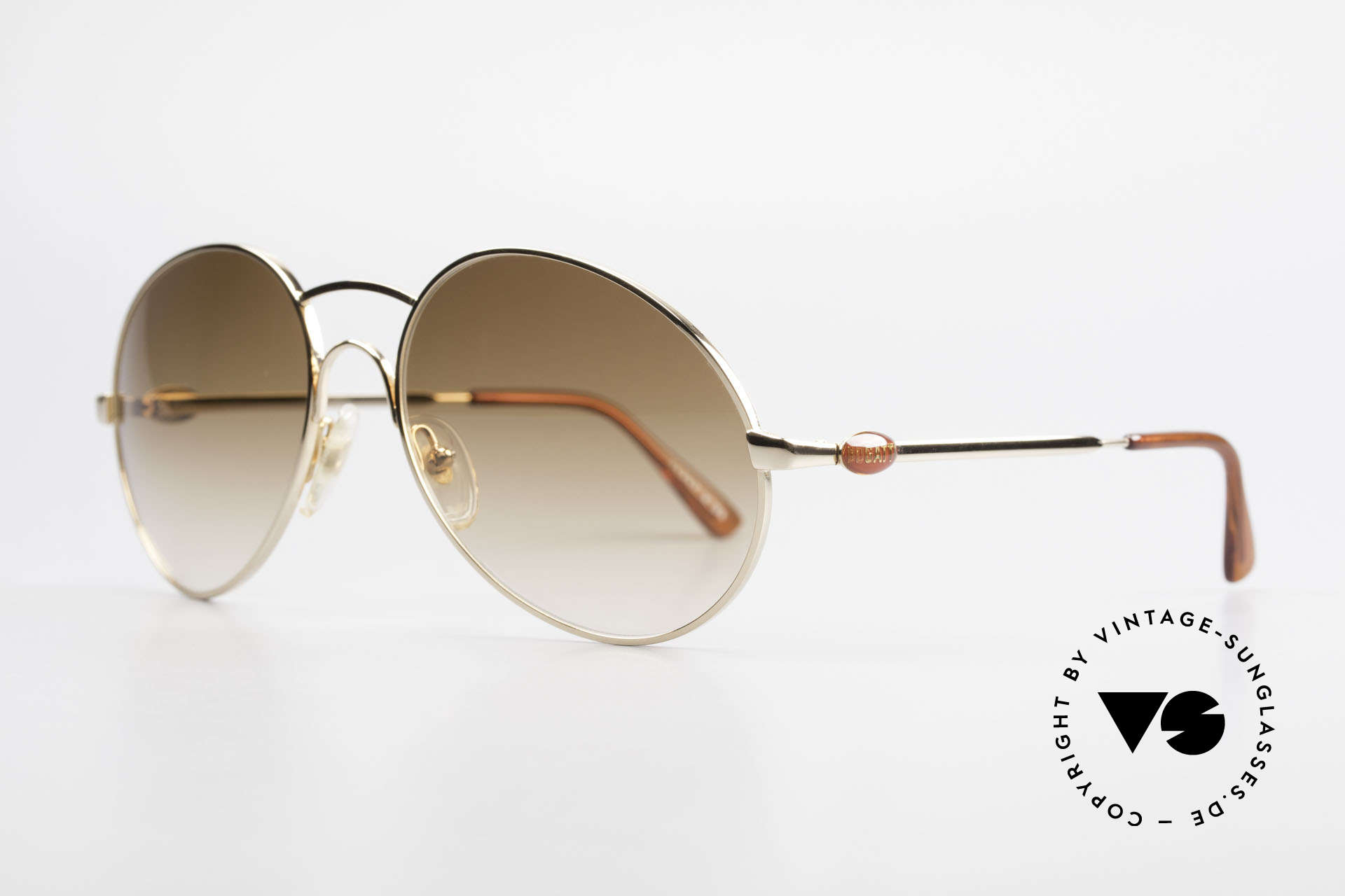 Bugatti 64947 Original 80er XL Sonnenbrille, eine Luxus-Sonnenbrille in XLARGE-Größe (146mm), Passend für Herren