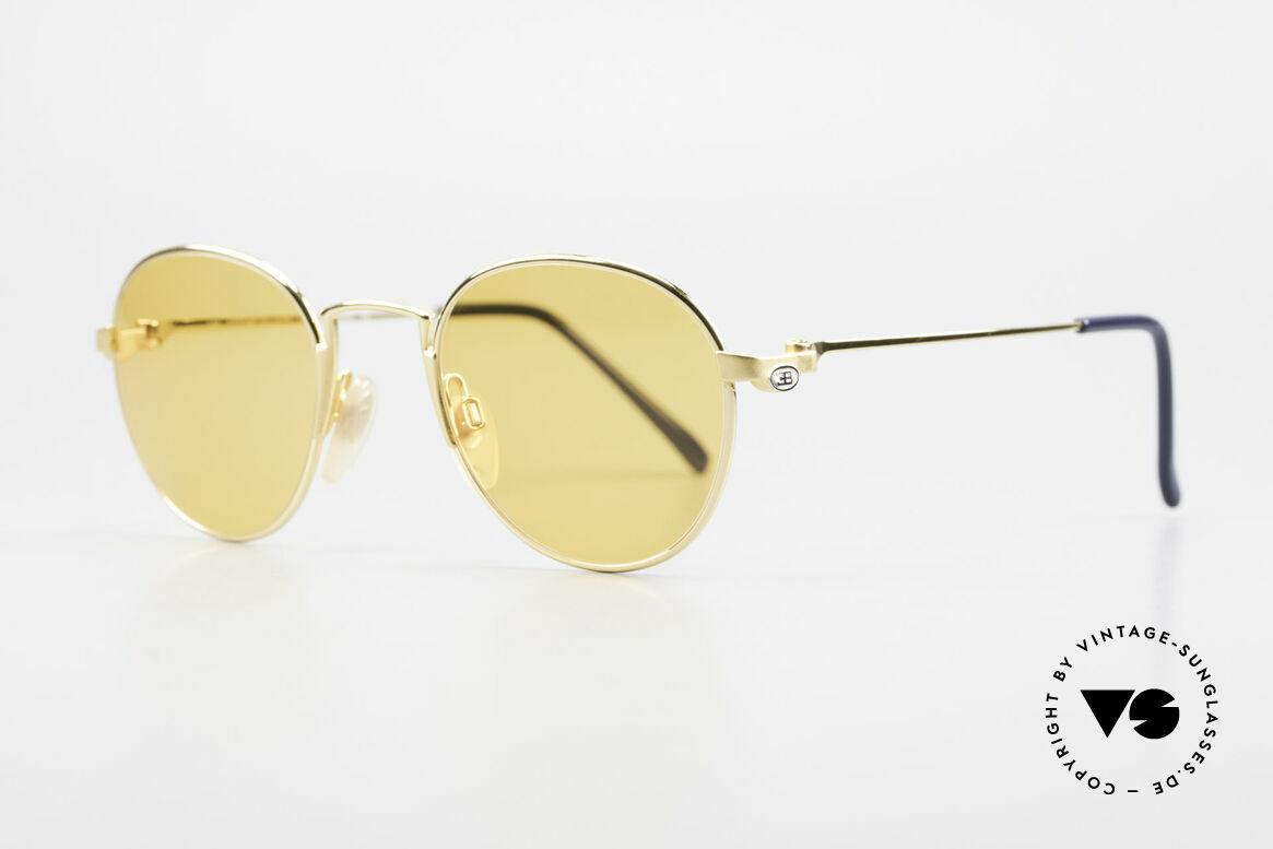 Bugatti EB600 Small 90er Bugatti Panto Brille, vergoldete Brille der 'Ettore Bugatti' Collection, Passend für Herren