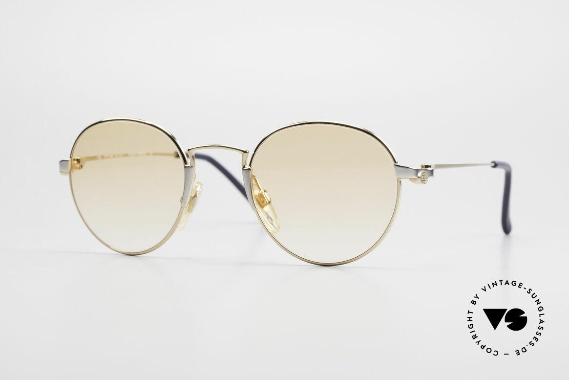 Bugatti EB600 Small 90er Luxus Panto Brille, KLEINE Bugatti Panto-Sonnenbrille; Gr. 47-22, Passend für Herren