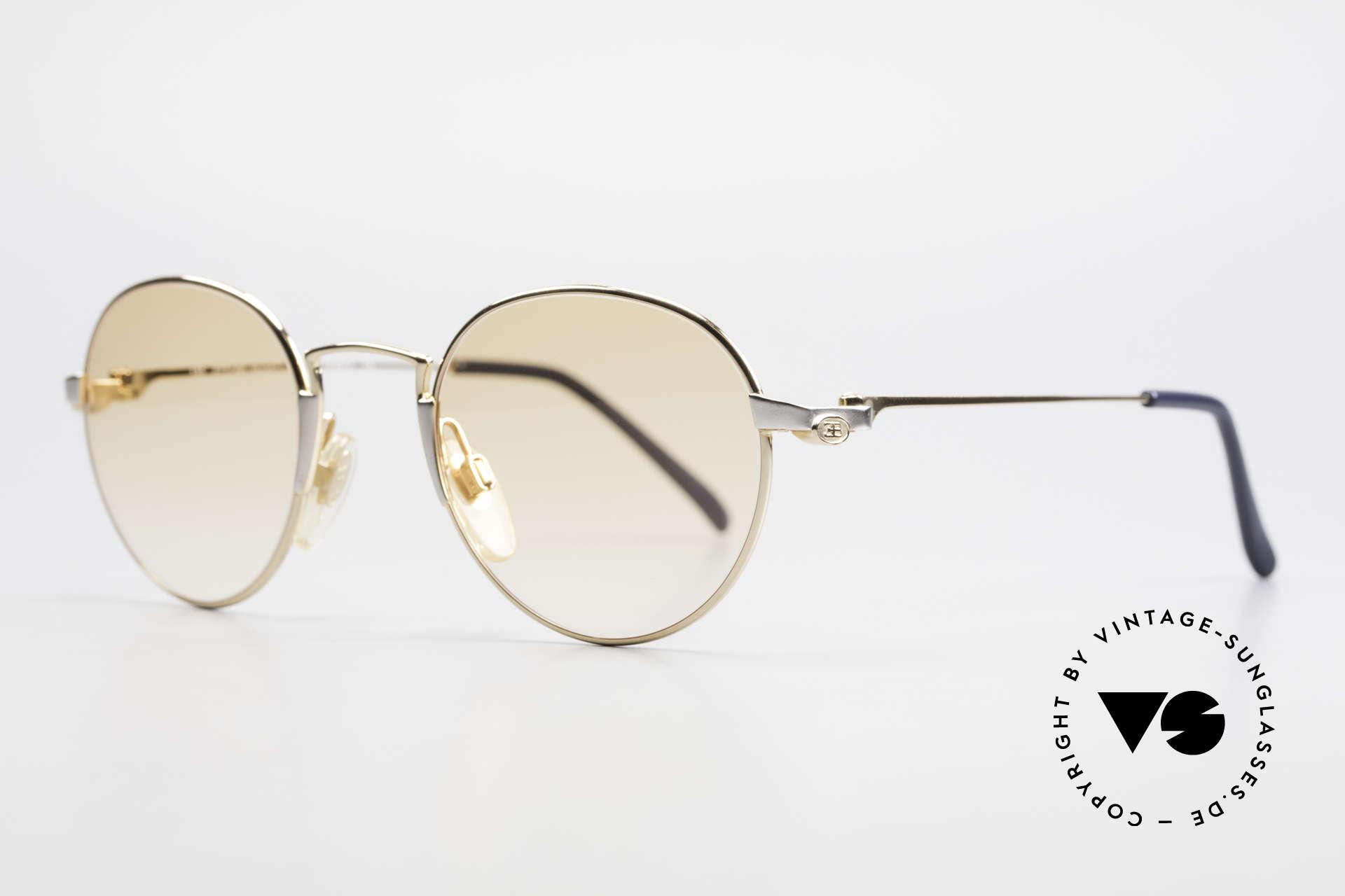 Bugatti EB600 Small 90er Luxus Panto Brille, gold/palladium-Brille der 'Ettore Bugatti' Serie, Passend für Herren
