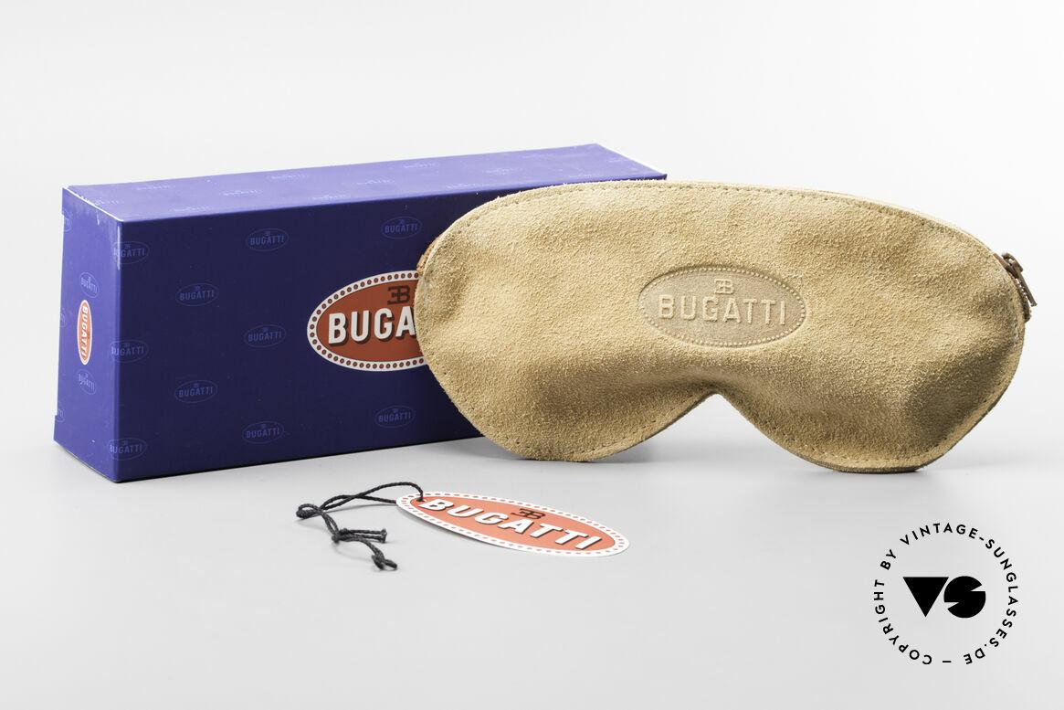 Bugatti EB600 Small 90er Luxus Panto Brille, Gläser orange-Verlauf; daher auch abends tragbar, Passend für Herren