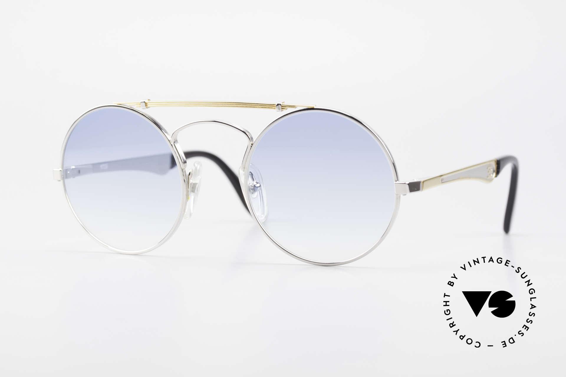 Bugatti 11709 80er Luxus Sonnenbrille Rund, runde VINTAGE Bugatti-Sonnenbrille in M Gr. 48/22, Passend für Herren