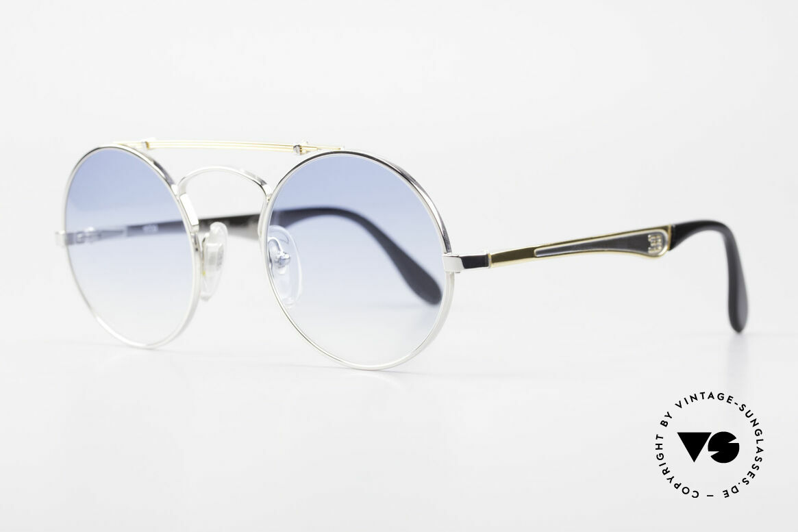 Bugatti 11709 80er Luxus Sonnenbrille Rund, eine runde vintage Bugatti Brille ist äußerst selten, Passend für Herren