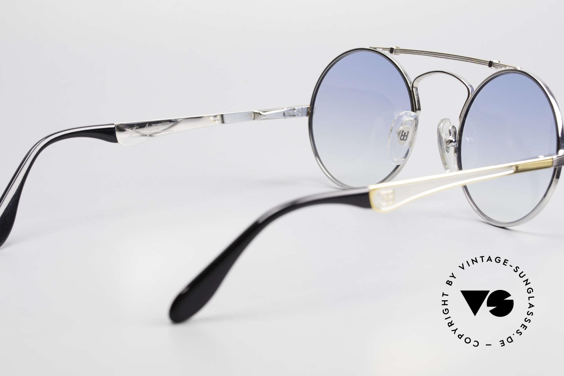 Bugatti 11709 80er Luxus Sonnenbrille Rund, ungetragenes Einzelstück; inkl. orig. Etui von Bugatti, Passend für Herren