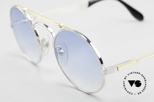 Bugatti 11709 80er Luxus Sonnenbrille Rund, keine Retrobrille; sondern ein 30 Jahres altes Original, Passend für Herren