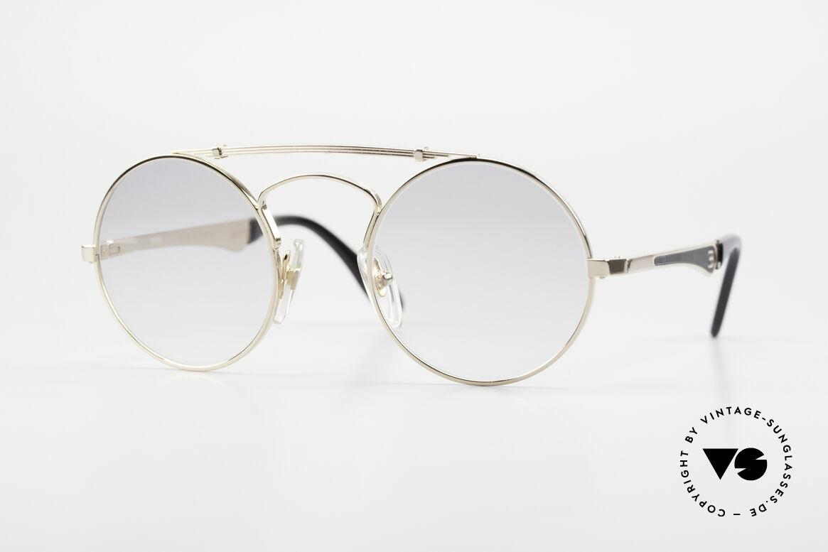 Bugatti 11711 Small Luxus Sonnenbrille Rund, runde vintage Bugatti-Sonnenbrille SMALL Gr. 46/22, Passend für Herren