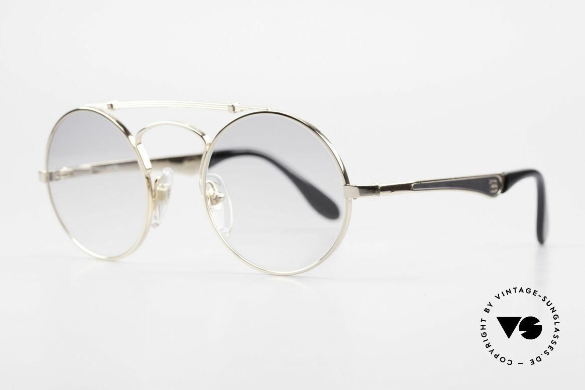 Bugatti 11711 Small Luxus Sonnenbrille Rund, eine RUNDE vintage Bugatti Brille ist äußerst selten, Passend für Herren