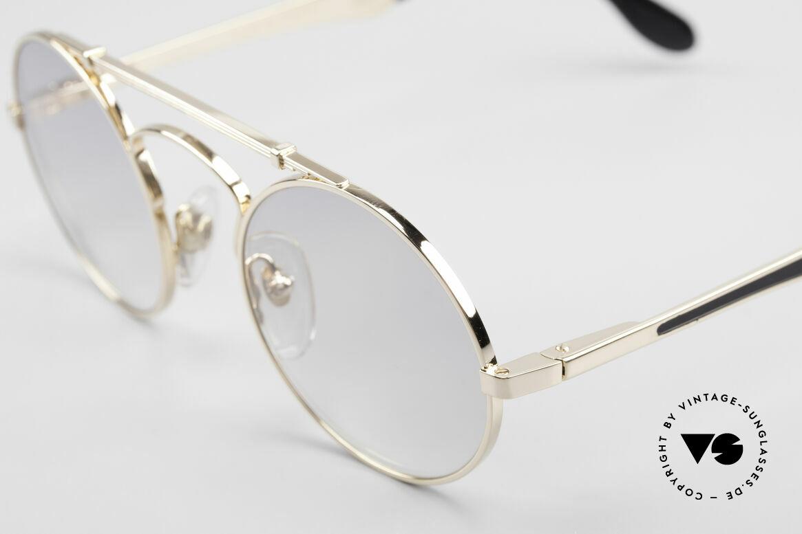 Bugatti 11711 Small Luxus Sonnenbrille Rund, mit Gläsern in hellgrau-Verlauf; daher jederzeit tragbar, Passend für Herren