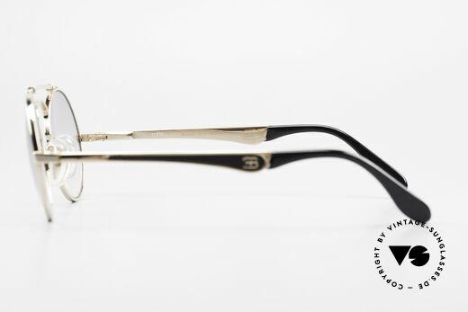 Bugatti 11711 Small Luxus Sonnenbrille Rund, keine Retrobrille; sondern ein 30 Jahres altes Original, Passend für Herren