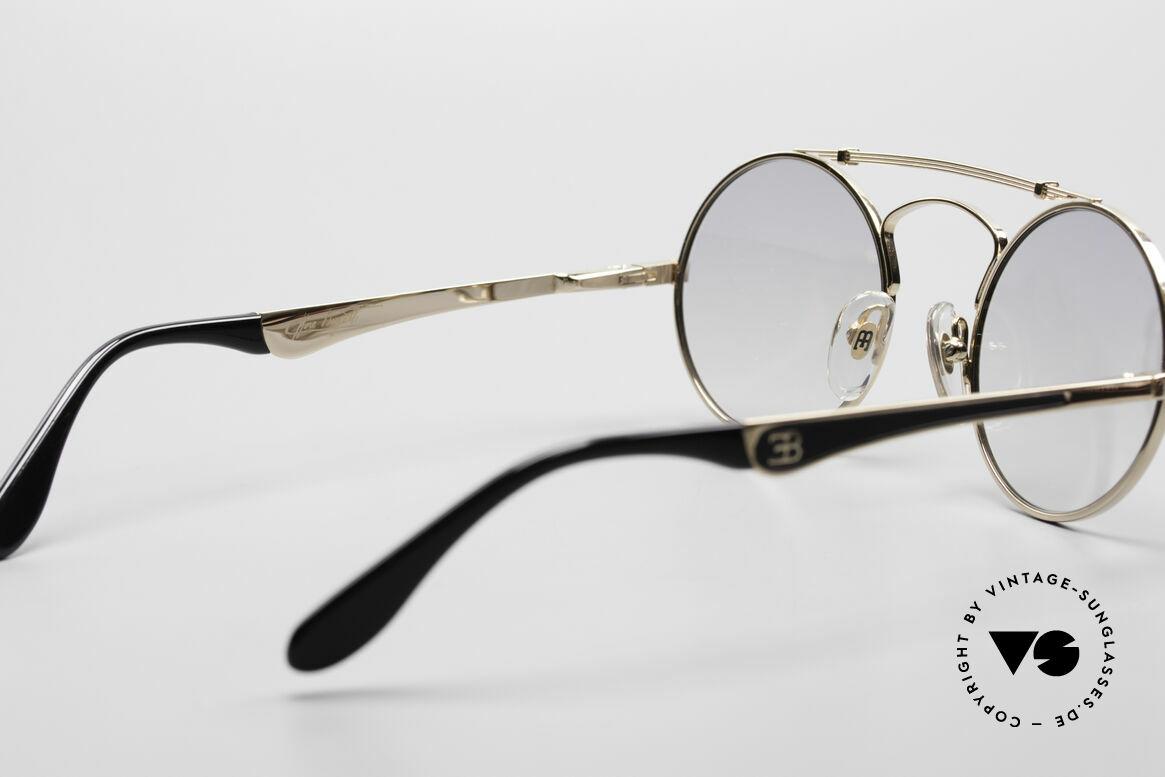 Bugatti 11711 Small Luxus Sonnenbrille Rund, Größe: small, Passend für Herren