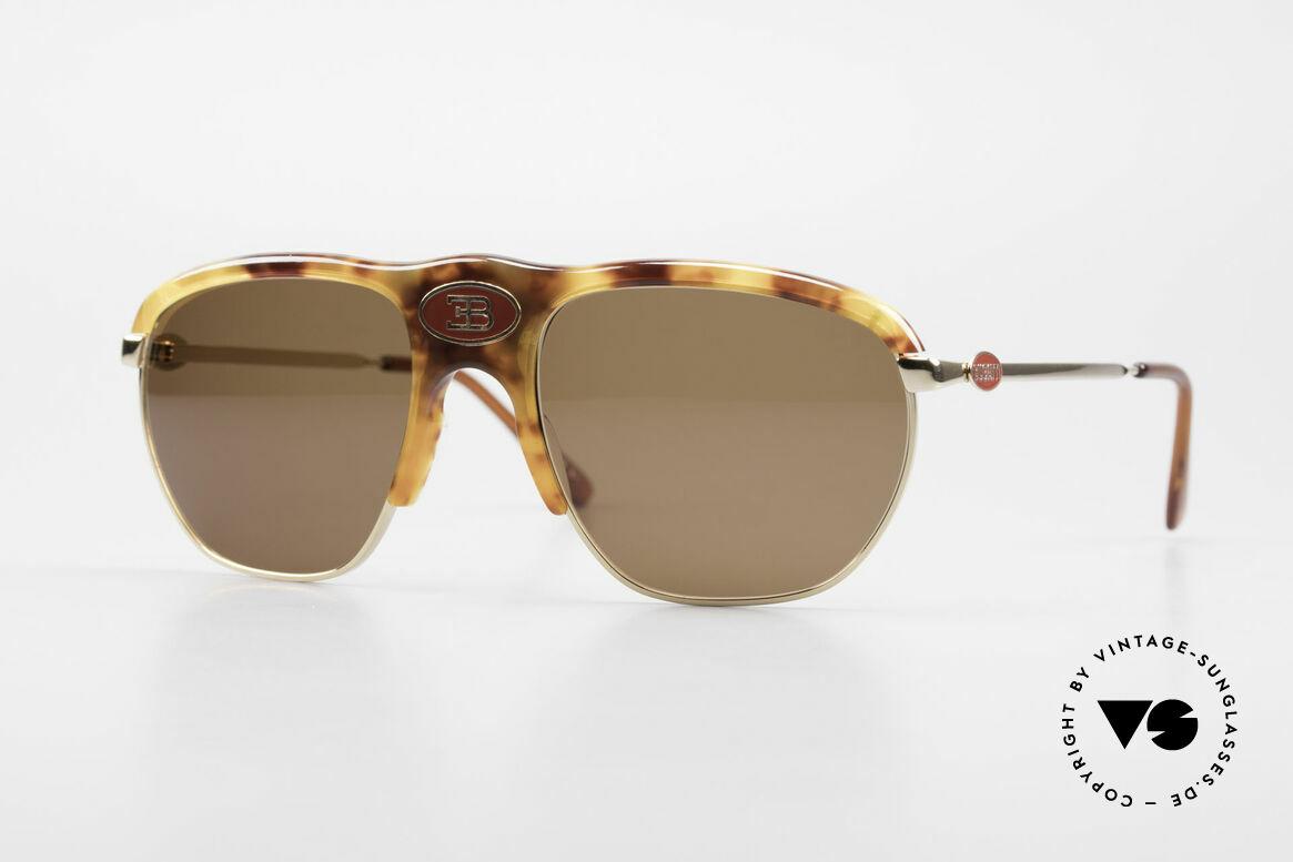 Bugatti 65218 Alte 70er Bugatti Sonnenbrille, sehr, sehr edle Bugatti vintage Luxus-Sonnenbrille, Passend für Herren