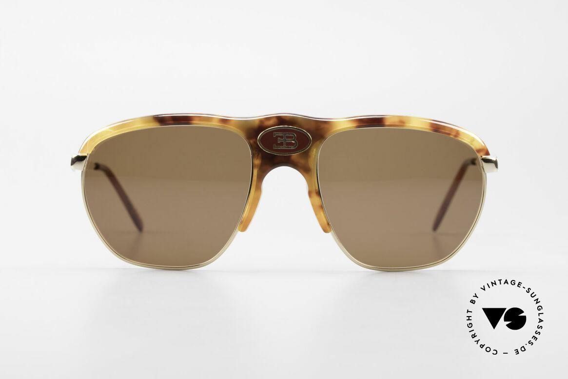 Bugatti 65218 Alte 70er Bugatti Sonnenbrille, elegante Schildpatt-Optik (Original aus den 70ern), Passend für Herren