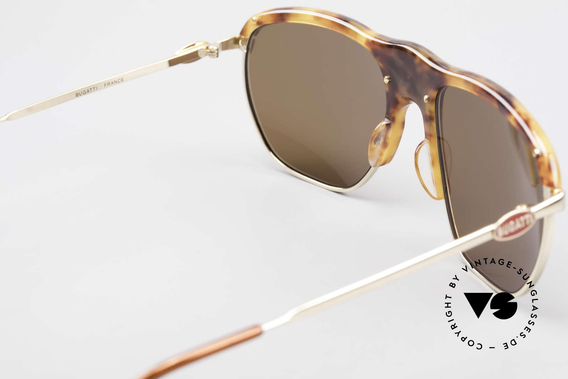 Bugatti 65218 Alte 70er Bugatti Sonnenbrille, KEIN Retro; sondern ein 40 Jahre altes Einzelstück!, Passend für Herren